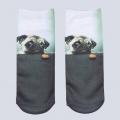 Zobrazit detail - Ponožky s mopsem UeeCom - socks with pug - 1 pár vel. 36-39 Unisex