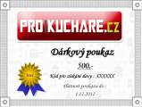 Dárkový poukaz e-shopu ProKuchare.cz