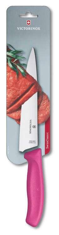 Kuchyňský nůž 19 cm Victorinox 6.8006.19L5B růžový