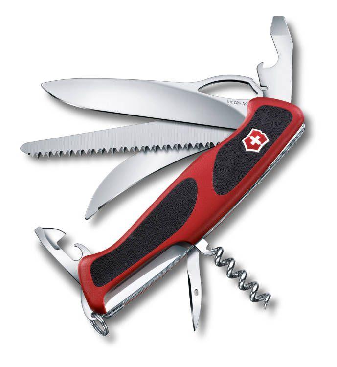 Kapesní lovecký nůž Victorinox 0.9583.MC Délemont RangerGrip 57 Hunter (Wenger)