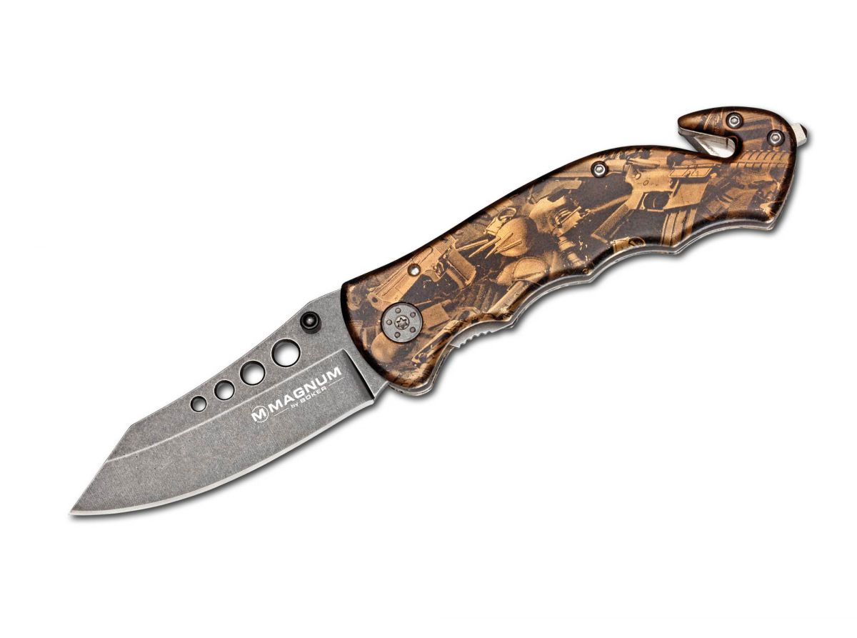 Kapesní nůž Magnum Bronze Rescue BÖKER 01LG288 - záchranářský nůž Böker - Solingen