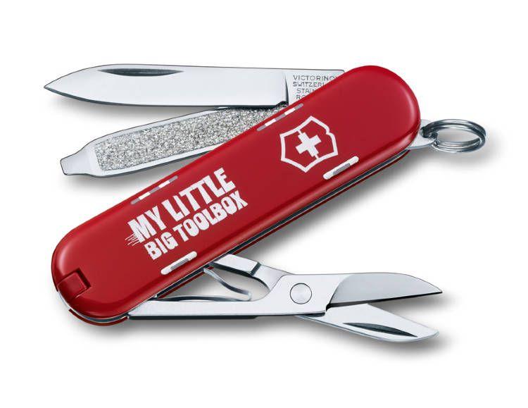 Kapesní nůž Victorinox Classic 0.6223.L1404, My little toolbox, krabice s nářadím