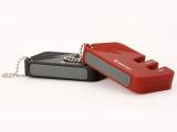 Kapesní brousek na nože 4342r Wüsthof Solingen - dvou stupňový Dreizack werk , malý , na klíče , červený , red