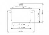 Hrnec se skleněnou poklicí 3,0 l / 18cm Kolimax Premium český výrobek - hrnec na indukci