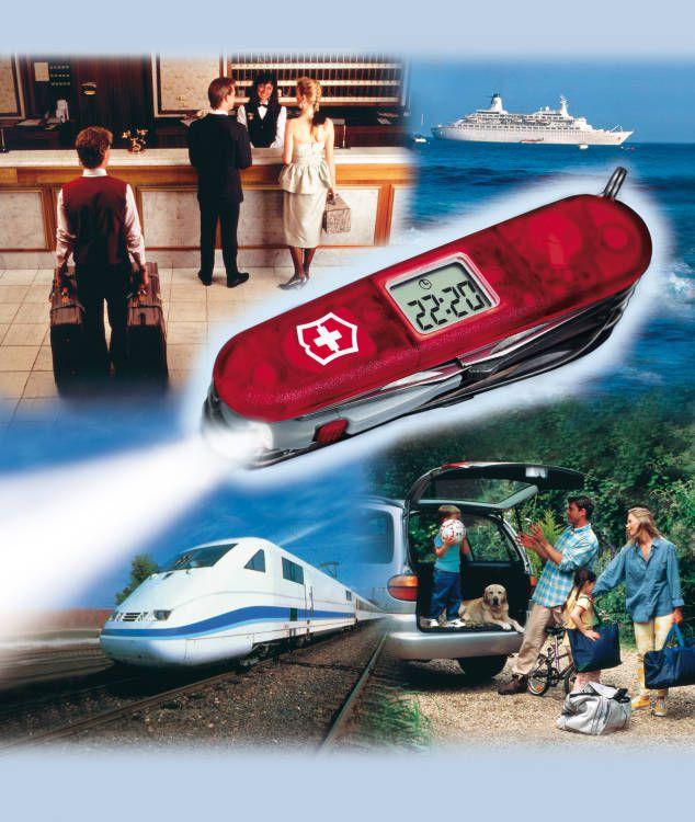 Kapesní nůž Victorinox Voyager lite DOPRAVA ZDARMA !!! 1.7905.VT - hodiny, budík , LED světlo, stopky, alarm...