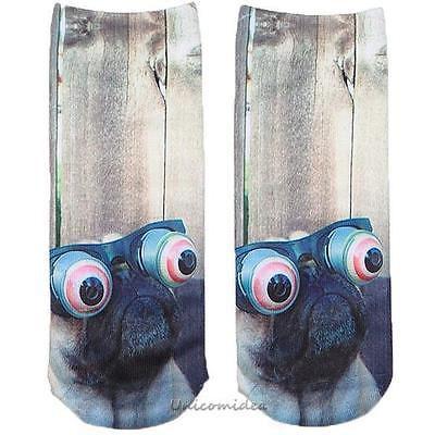 Ponožky s mopsem UeeCom - 1 pár vel. 36-39 Unisex , mopsík , mopslík , mops , pár ponožek , Frank , Men in black , Muži v černém , pes , ponožky se psem , Frenk , Frank
