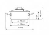Rendlík se skleněnou poklicí, 18cm/ 2,0 l Kolimax Professional nerezový - český výrobek , české nádobí kastrol profesional