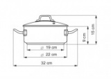 Rendlík se skleněnou poklicí, 22cm/ 3,0 l Kolimax Professional nerezový - český výrobek , české nádobí kastrol profesional