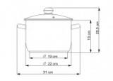 Hrnec se skleněnou poklicí 5,5 l / 22cm Kolimax Premium český výrobek - hrnec na indukci