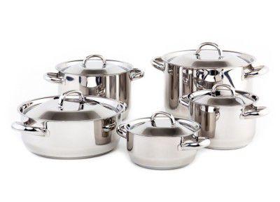 Sada nádobí Kolimax Klasik 10 dílů - český výrobek + Doprava zdarma , české nádobí clasic s kovovými poklicemi