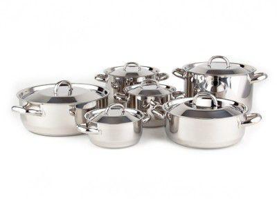 Sada nádobí Kolimax Klasik 12 dílů - český výrobek + Doprava zdarma , české nádobí clasic s kovovými poklicemi