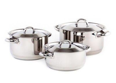 Kolimax sada nádobí Klasik 6 dílů - český výrobek + Doprava zdarma , české nádobí clasic s kovovými poklicemi