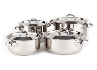 Sada nádobí Kolimax Klasik 8 dílů - český výrobek + Doprava zdarma , české nádobí clasic s kovovými poklicemi