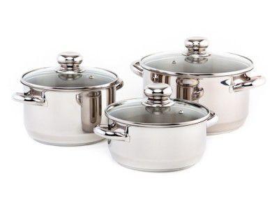 Sada nádobí Kolimax Premium 6 dílů - český výrobek , české nerezové nádobí