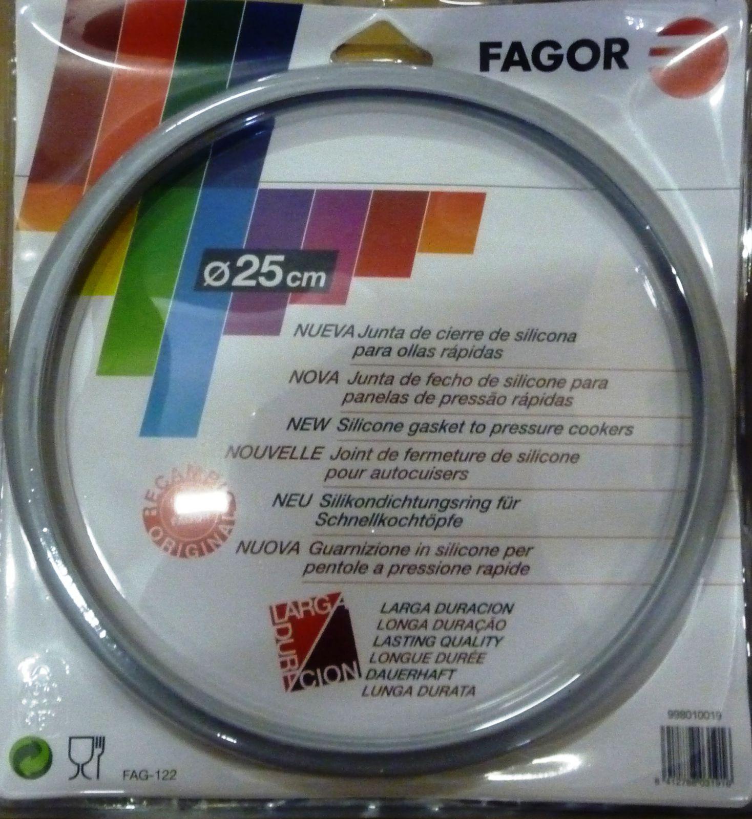 Těsnění pro tlakové hrnce FAGOR 8,0l a 10,0l - silikonové 25cm