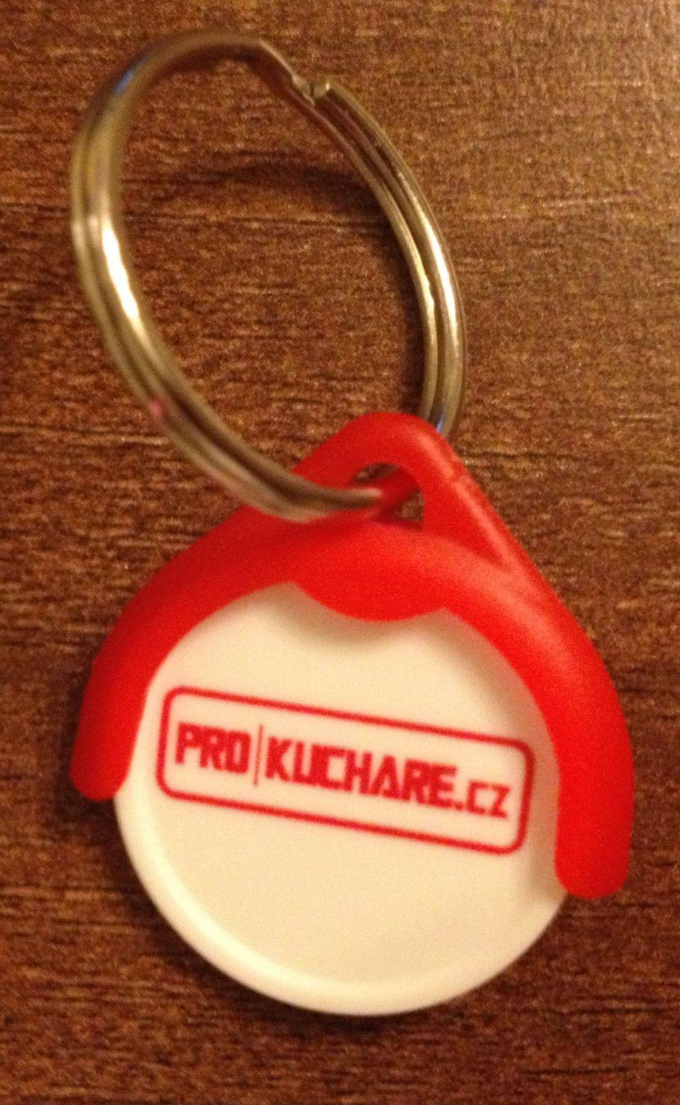 Žeton do nákupního vozíku s přívěskem na klíče - Prokuchare.cz - mince do košíku