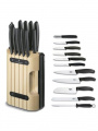 11-ti dílná kuchyňská sada nožů s blokem na nože Victorinox Swiss Classic 6.7153.11