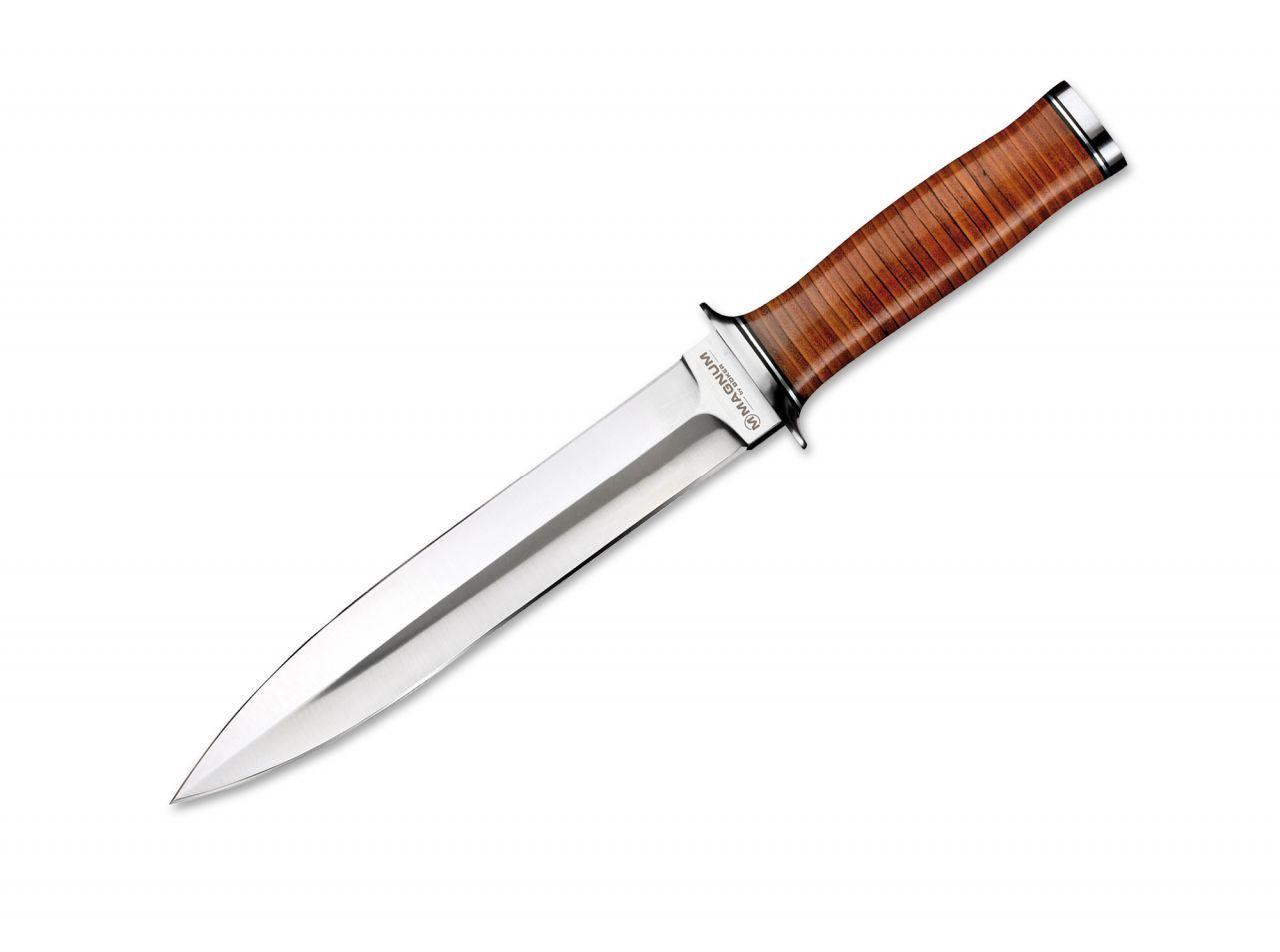 Dýka Böker Magnum Classic Dagger 33cm 02LG141 , s koženým pouzdrem , lovecký nůž , sběratelský Böker - Solingen