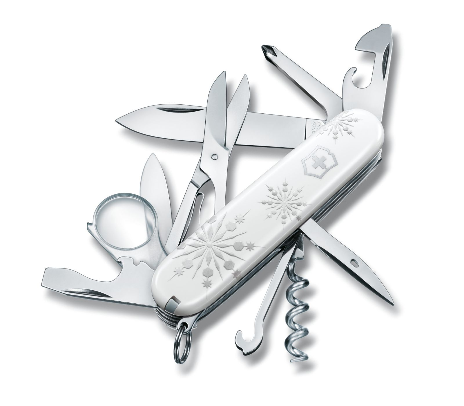 Kapesní nůž Explorer White Christmas Victorinox 1.6703.77 Limitovaná edice - bílé Vánoce - Xmass - švýcarský zavírací nůž