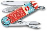 Kapesní nůž Victorinox Classic 0.6223.L1910 Let it pop , popcorn , kukuřice , popcornový stánek
