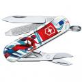 Kapesní nůž Victorinox Classic 0.6223.L2008 Ski race , lyžař , hory , sníh