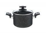 KOLIMAX Hrnec BLACK GRANITEC s poklicí, průměr 18cm, objem 3.0l