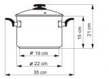 KOLIMAX Hrnec BLACK GRANITEC s poklicí, průměr 22cm, objem 5.5l