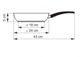 KOLIMAX Pánev s mramorovým povrchem MRAMORA BLACK, průměr 24 cm