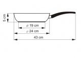 KOLIMAX Pánev s mramorovým povrchem MRAMORA GREY, průměr 24 cm