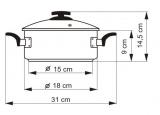 KOLIMAX Rendlík BLACK GRANITEC s poklicí, průměr 18cm, objem 2.0l , 150431