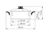 KOLIMAX Rendlík BLACK GRANITEC s poklicí, průměr 26cm, objem 4.5l , 150509