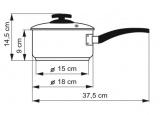 KOLIMAX Rendlík s rukojetí BLACK GRANITEC s poklicí, průměr 18cm, objem 2.0l