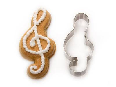 Vykrajovačka nerez houslový klíč - vykrajovátka na cukroví Kovovýroba