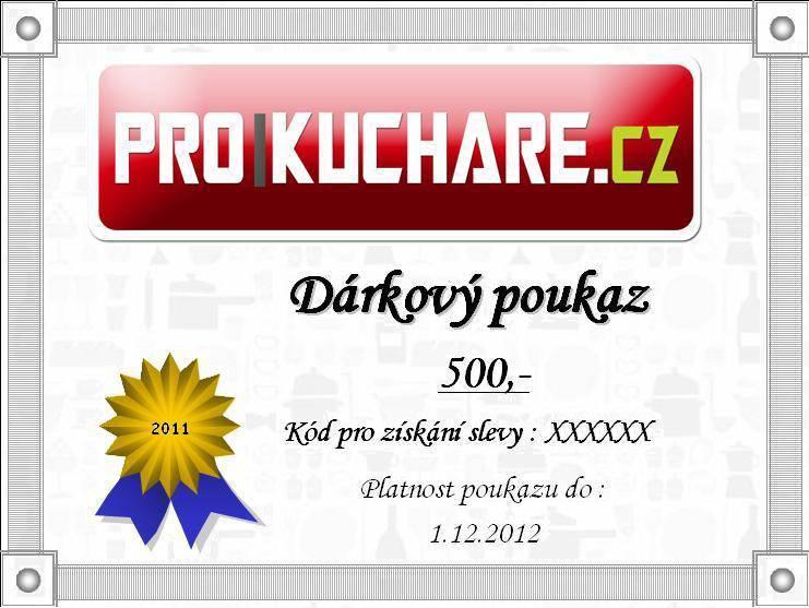 Dárkový poukaz na nákup v e-shopu ProKuchare.cz