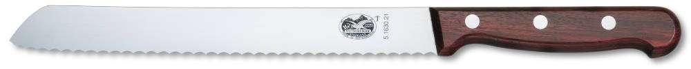 Kuchyňský nůž na chleba 21 cm dřevo Victorinox 5.1630.21 dřevěný , dřevěná rukojeť, nejlepší nůž na chléb