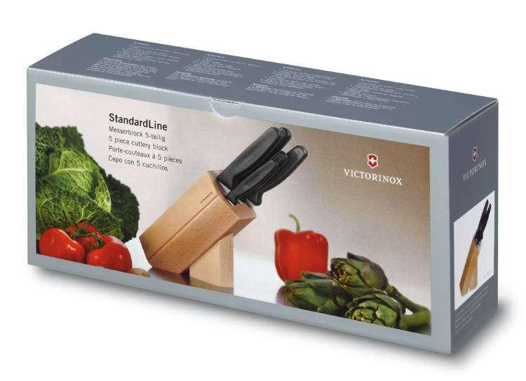 6-ti dílná kuchyňská sada nožů s blokem na nože Victorinox 5.1183.51