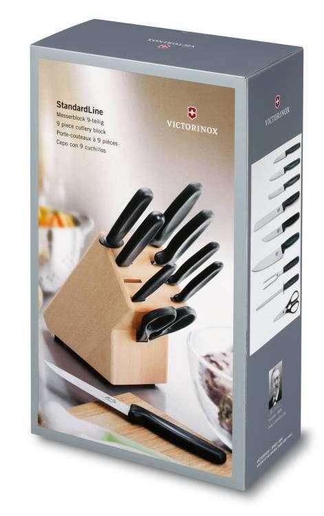 10-ti dílná kuchyňská sada nožů s blokem na nože Victorinox 5.1193.9 - 10 dílů, blok na nože