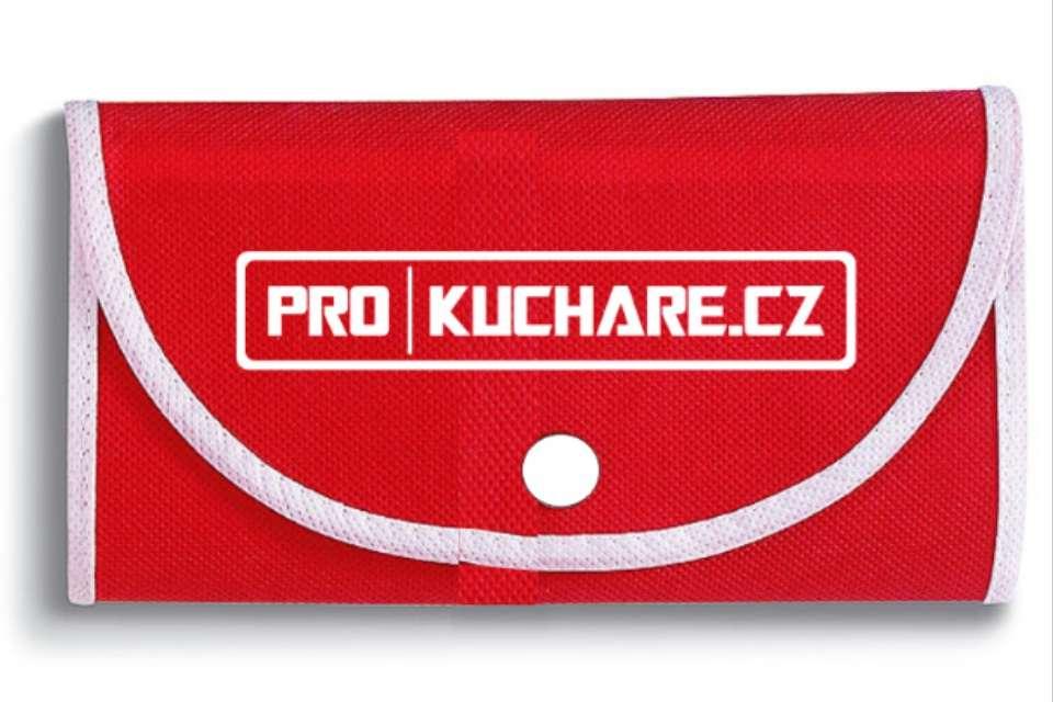Nákupní taška skládací - 40x47cm červená - Prokuchare.cz